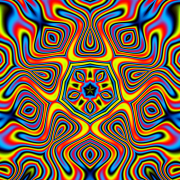 Flower Power Psychedelic Blacklight Backdrop With 8mm Rings